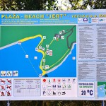 Mapa pláže Jet u Pinezici, Krk