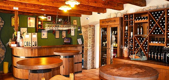 Interiér vinárstvo Gospoja, Krk, Chorvátsko