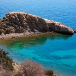 Punat - romantická pláž, ostrov Krk, Chorvatsko